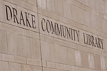 Drake Community Library Sign